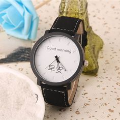 >> Click to Buy << Cindiry Top Brand Casual Good Morning Good Night Analog Quartz Wrist Watches Womens Watches montres femme Clock Watch kids P35 #Affiliate