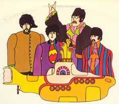 "el cine es una ilusión: Se reestrenará ""Yellow Submarine"" de The Beatles"