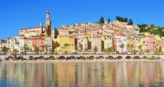 "Menton, Provence-Alpes-Côte d'Azur, France – A village in the Provence-Alpes-Côte d'Azur region in southeastern France. It is nicknamed ""la perle de la France"" which means ""The Pearl of France"". It has nice beaches and beautiful colorful homes. http://www.wowtravel.me/50-most-colorful-places-on-earth/"