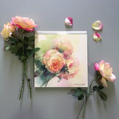 Roses live forever in art...just like the love they represent.