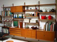 Mid Century Danish Cado Wall Unit - lightweight but great storage for kids and would look great with a dining table