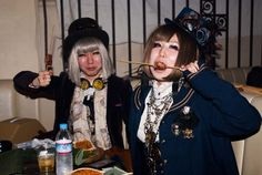 Steampunk Gothic Lolitas?? Amazing photos from a Japanese STEAMPUNK retro Victorian party, on La Carmina blog!    † Please share, to support the Tokyo Japan underground scene :)    http://www.lacarmina.com/blog/2013/05/steampunk-japan-club-steam-garden-meetup-victorian-fashion/    christon cafe food, tokyo steampunks