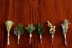 herb boutonnieres |