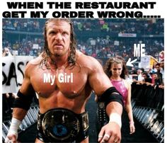 Restaurant Got My Order Wrong: When the restaurant gets my order wrong look out for my girl. She's a pro wrestler. Cool Pictures, Funny Pictures, Funny Pics, Funny Stuff, Mental Problems, Entertainment Video, Memes Of The Day, Can't Stop Laughing, Relationship Goals