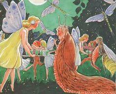 Postcard by Rudolf Koivu Fairy Land, Fairy Tales, Silver Penny, Elsa Beskow, 11. September, Nature Spirits, Vintage Fairies, Grimm, Vintage Cards