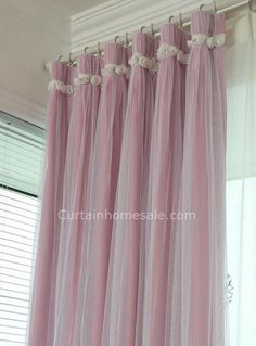 Wholesale Patterned Punching Eyelet Curtains Girls Bedroom