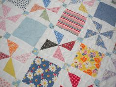 Love pinwheels and this shows off a nice larger square of cute fabric.