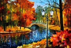 Sublime Park - PALETTE KNIFE Oil Painting On Canvas By Leonid Afremov Art Print by Leonid Afremov. Choose from multiple sizes and hundreds of frame and mat options. Autumn Painting, Oil Painting On Canvas, Knife Painting, Painting Abstract, Painting Art, River Painting, Canvas Art, Abstract Portrait, Portrait Paintings