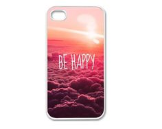 Apple iPhone 4 4G 4S / iPhone 5 5G / iPod Touch 5 Case Cover Skin Be Happy  Design Mobile Phone Accessory