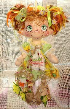 Сказочные персонажи ручной работы. Ярмарка Мастеров - ручная работа Текстильная кукла домовушка-желанница Подсолнушек. Handmade. Ugly Dolls, Fabric Toys, Bear Doll, New Dolls, Soft Dolls, Craft Patterns, Beautiful Dolls, Doll Toys, Sewing Crafts