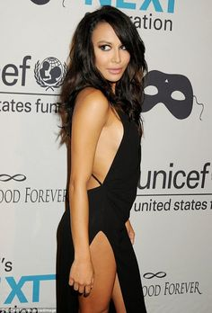 Naya Rivera in plunging, Slashed-to-the-thigh Gown at UNICEF Dia de los Muertos event Celebrity List, Celebrity Style, Naya Rivera Hot, Only Girl, Height And Weight, Teen Vogue, Celebs, Celebrities, Woman Crush
