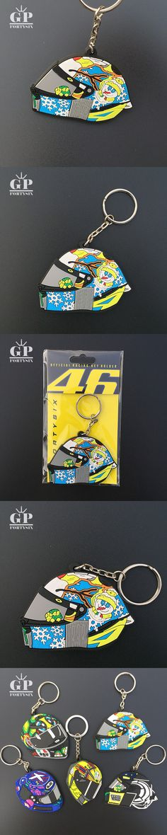 GPFORTYSIX Motorcycle Keychain MotoGP helmet Rubber keychains for VR46 the Doctor moto fans Gift key ring for valentino Rossi