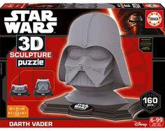 Puzzle 3D Sculpture Darth Wader Star Wars de 160 Piezas