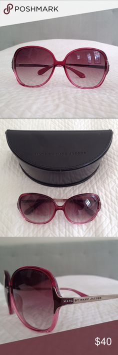 Marc by Marc Jacobs sunglasses Pink sunglasses with fading lens. Original case and unused dust cloth included. Minor scratches on case. Marc by Marc Jacobs Accessories Sunglasses