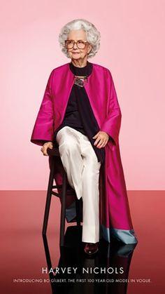 """""""Vogue"""" britânica terá modelo de 100 anos em fotos de revista comemorativa"""