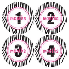 Baby Stickers Baby Month Stickers B69 by SeeMeGrowUp on Etsy, $9.00