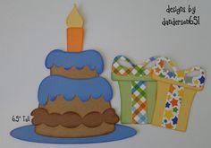 Birthday Kids Paper Piecing Set PreMade 4 Border Scrapbook Album danderson651
