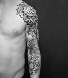 Dotwork mandala sleeve by Maja Kawiak