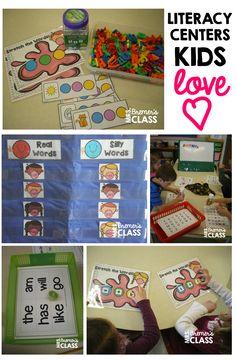 Literacy Centers Kids LOVE