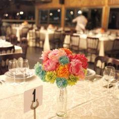 DIY Wedding Decor: Paper Flowers, Birdies, and Beads!