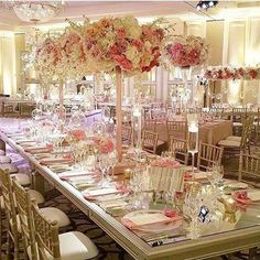 Get inspired by this fabulous pink wedding ~ Wildflower Linen