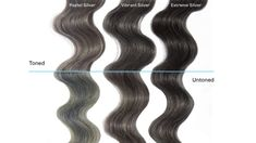 How to Get Perfect Silver Hair & Cancel Out Green or Blue Tones - With silver hair colors, it can be difficult to get a perfect silver hair tone. We explain why, and how to correct any unexpected tones. Balayage Hair Caramel, Balayage Ombré, Balayage Hair Blonde, Guy Tang, Pelo Color Plata, Pravana, Hair Color Purple, Hair Colors, Green Hair