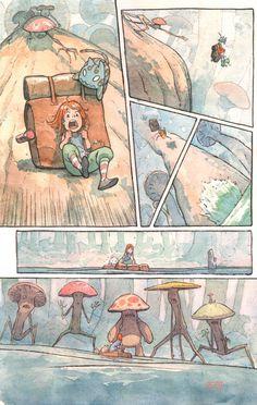 Comic Book Artists, Comic Artist, Comic Layout, Graphic Novel Art, Background Drawing, Mini Comic, Comic Panels, Sketch Design, Art Studies