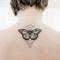 #butterflytattoo #geometrictattoo #dotwork #btattooing #blacktattooart