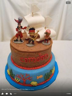 Jake and the neverland pirates cake...google search