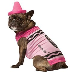 Rasta Imposta Crayola Pink Dog Costume Small * See this great product. (This is an affiliate link) #DogsCostumes