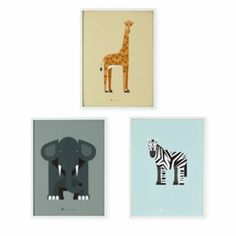 Modern Menagerie Animal Wall Art (Set of 3)  | The Land of Nod