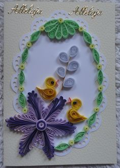 Paper Quilling Cards, Quilling Craft, Quilling Patterns, Quilling Designs, Quilling Christmas, Origami, Jewelry Patterns, Easter Crafts, Flower Art