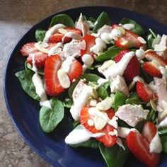 "Chicken Strawberry Spinach Salad with Ginger-Lime Dressing | ""I ..."