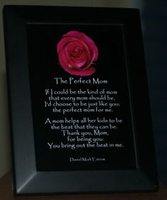 the perfect present for mom thank you mom for being you