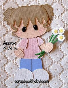 Girl with Flowers Paper Piecing