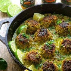 Cauliflower Quinoa Meatballs in Coconut Turmeric Broth - A great Vegetarian dinner idea and a great way to try some new spices and eat more veggies.