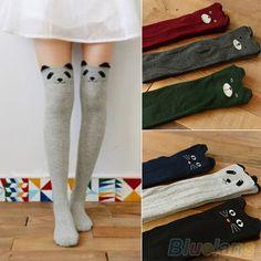 Women's Fashion Cute Cartoon Animal Pattern Thigh Stockings Over Knee High Knit Socks Kawaii Fashion, Cute Fashion, Womens Fashion, Style Fashion, Pretty Outfits, Cool Outfits, Knitting Socks, Knit Socks, Cute Socks