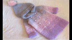 Pardesiu tricotat cu tehnica raglan / PARTEA I - YouTube Crochet Cow, Film, Knitting, Baby Girls, Youtube, Sweaters, Babies, Ideas, Fashion