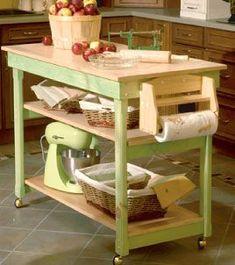Kitchen Island Cart Diy diy kitchen island with trash storage and free downloadable build