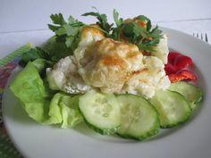 Finom étel és mostanában karfiolt is tudsz vásárolni hozzá. Fresh Rolls, Chicken, Ethnic Recipes, Food, Essen, Meals, Yemek, Eten, Cubs