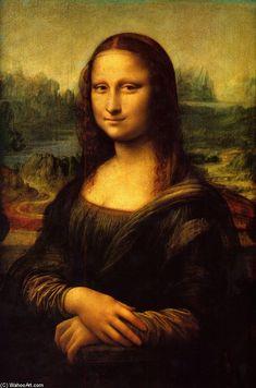 Mona Lisa (La Gioconda), óleo sobre painel por Leonardo Da Vinci (1452-1519, Italy)