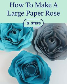 Giant Paper Flowers, Paper Roses, Rose Step By Step, Quilling Videos, Bullet Journal Cover Ideas, Burlap Roses, Cool Paper Crafts, Paper Backdrop, Flower Video