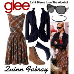 Quinn Fabray (Glee) : 2x14 by aure26 on Polyvore featuring Lands' End and glee