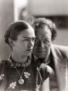 Frida Kahlo / Diego Rivera. In 1934.