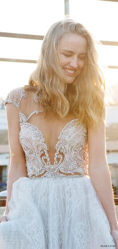 alon livne white pre 2018 bridal illusion cap sleeves sweetheart beaded bodice lace ball gown wedding dress (terri) mv princess romantic -- Alon Livne White 2017-2018 Wedding Dresses