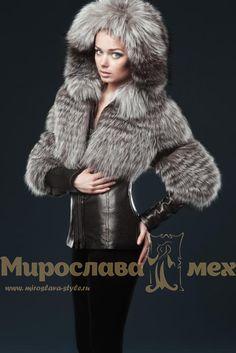 """Меховая куртка""""Жаклин""""  мех чернобурки в роспуск, материал - дублёнка."""