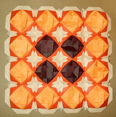 CREATIVE CREASINGS Origami Quilt, Quilts, Stitch, Blanket, Creative, Colors, Drawings, Mosaics, Full Stop