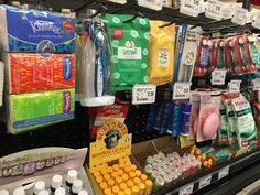 Personal care items like tissues, lip balm, and toothbrushes make for great choices at checkout. (Harmons Grocery, Lehi, UT, 3/17) Do It Right, Made Goods, Lip Balm, Choices, Bee, Lips, Personal Care, Healthy, How To Make