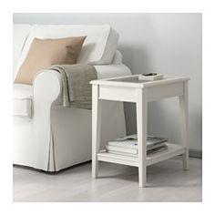 LIATORP Mesa auxiliar, blanco, vidrio - 57x40 cm - IKEA