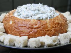 Baby Shower Recipes - Tasty Spinach Dip Bowl | Baby Shower More